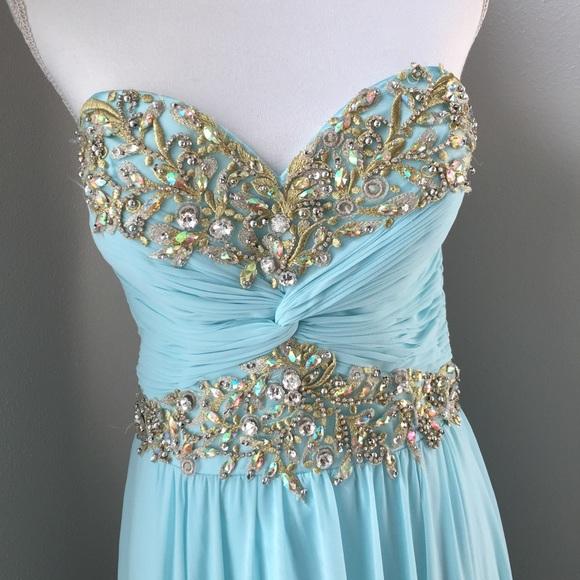 Sherri Hill Dresses   Baby Blue Prom Dress Size 12   Poshmark